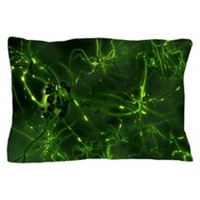 Neural network, computer artwork Pillow Case