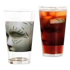 Phrenology head Drinking Glass