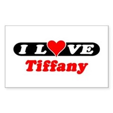 I Love Tiffany Rectangle Decal