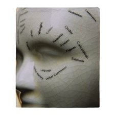 Phrenology head Throw Blanket