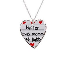 Hector Loves Mommy and Daddy Necklace
