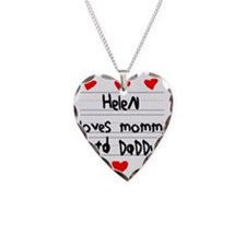 Helen Loves Mommy and Daddy Necklace