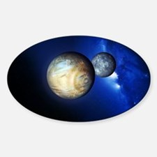Pluto and Charon Sticker (Oval)