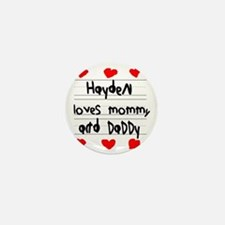 Hayden Loves Mommy and Daddy Mini Button