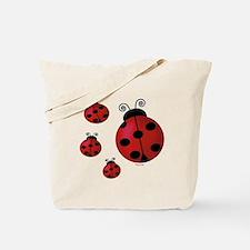 Four ladybugs Tote Bag