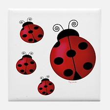 Four ladybugs Tile Coaster