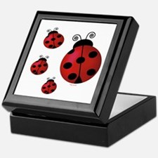 Four ladybugs Keepsake Box