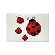 Four ladybugs Rectangle Magnet