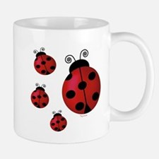 Four ladybugs Small Mugs
