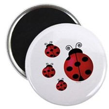 "Four ladybugs 2.25"" Magnet (10 pack)"