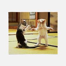 Kung Fu Kittens Throw Blanket