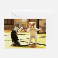 Kung Fu Kittens Greeting Card
