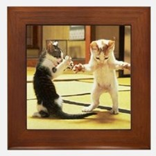 Kung Fu Kittens Framed Tile