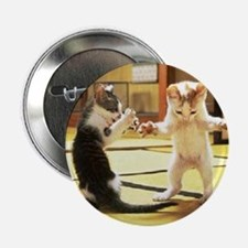 "Kung Fu Kittens 2.25"" Button"