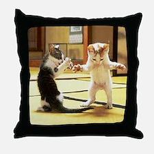 Kung Fu Kittens Throw Pillow