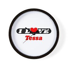 I Love Tessa Wall Clock