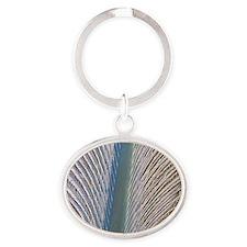 Penguin feather, SEM Oval Keychain