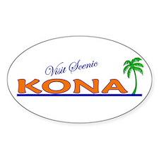 Visit Scenic Kona, Hawaii Oval Decal