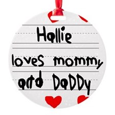 Hallie Loves Mommy and Daddy Ornament