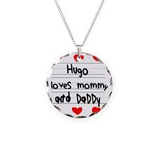 Hugo Loves Mommy and Daddy Necklace