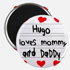 Hugo Loves Mommy and Daddy Magnet