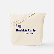 Bashkir Curly horses Tote Bag