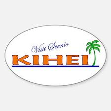 Visit Scenic Kihei, Hawaii Oval Decal
