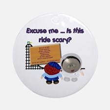 Scary Ride Ornament (Round)