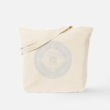 White Aztec Calendar Logo Tote Bag