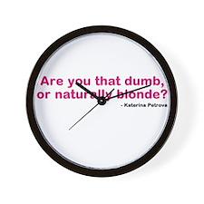 Katherine Pierce Quote Wall Clock
