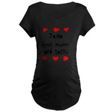 Jana Loves Mommy and Daddy T-Shirt