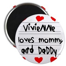 Vivienne Loves Mommy and Daddy Magnet