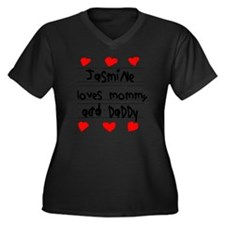 Jasmine Love Women's Plus Size Dark V-Neck T-Shirt