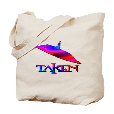 Taken by a UFO Multi Colored Tote Bag