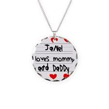 Janel Loves Mommy and Daddy Necklace