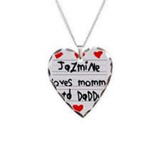 Jazmine Loves Mommy and Daddy Necklace