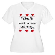 Jazmine Loves Mom T-Shirt