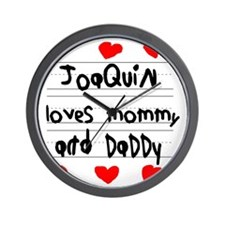 Joaquin Loves Mommy and Daddy Wall Clock