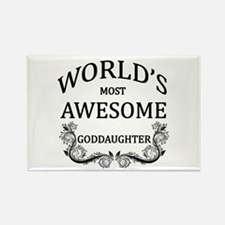 World's Most Awesome Goddaughter Rectangle Magnet