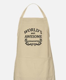 World's Most Awesome Goddaughter Apron