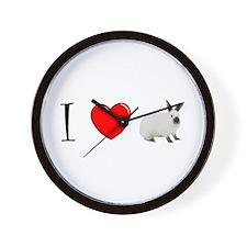 I -heart- Bunny Wall Clock