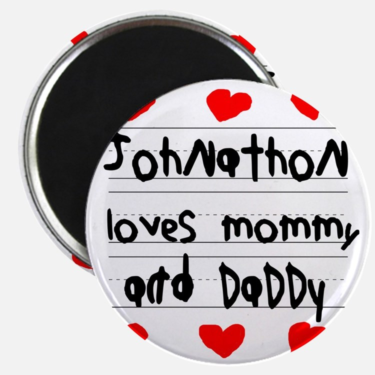 Johnathon Loves Mommy and Daddy Magnet