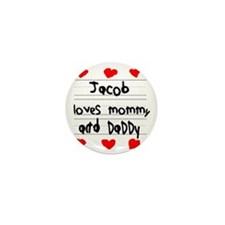 Jacob Loves Mommy and Daddy Mini Button