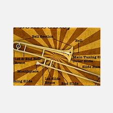 Trombone Rectangle Magnet