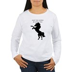 May the horse be with you Women's Long Sleeve T-Sh