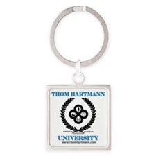 TH University Crest Square Keychain