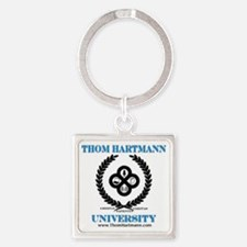 TH University Crest Square Keychain