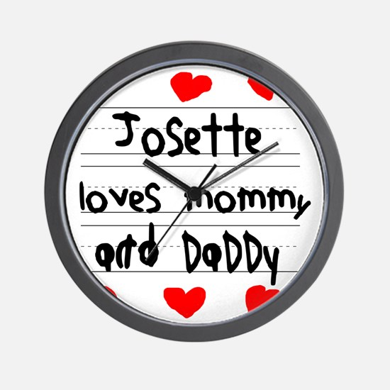 Josette Loves Mommy and Daddy Wall Clock