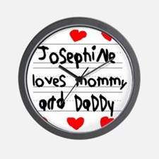Josephine Loves Mommy and Daddy Wall Clock
