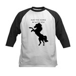 May the horse be with you Kids Baseball Jersey